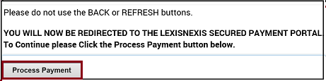 Process Payment button