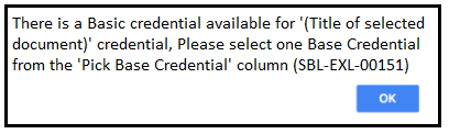 Base credential required message